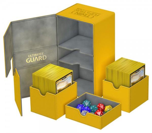 Ultimate Guard - Twin Flip 'n' Tray Deck Case 200+ / XenoSkin Gelb