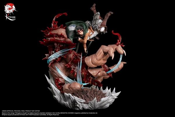 Attack on Titan - Levi vs Beast Titan: Kitsune