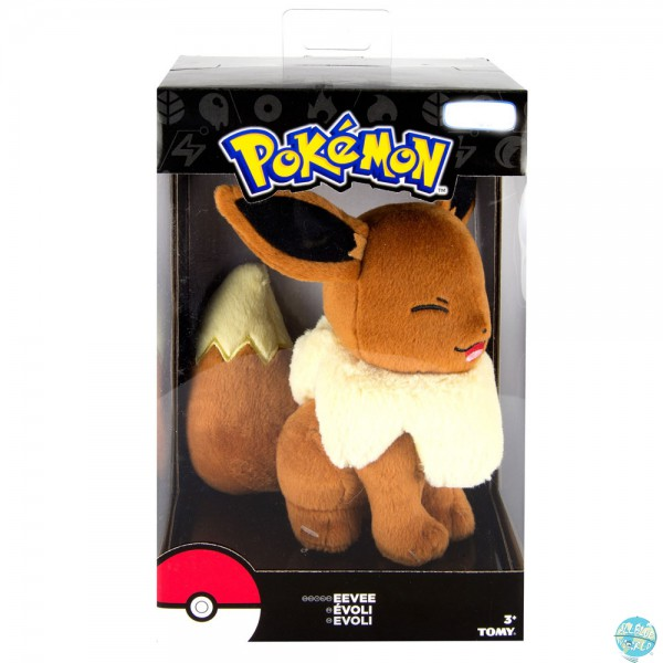 Pokemon - Evoli Plüschfigur - Laugh: Tomy