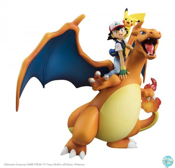 Pokemon - Glurak, Ash & Pikachu Statue - G.E.M. Reihe: MegaHouse