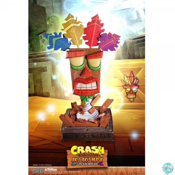Crash Bandicoot - Aku Aku Maske Life-Size Replika: First 4 Figures