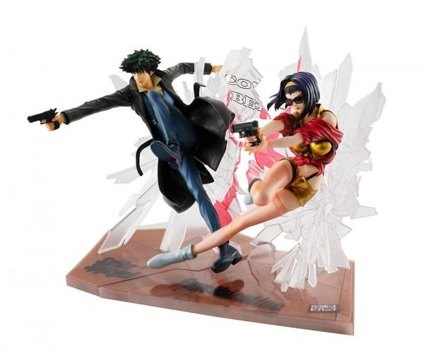 Cowboy Bebop - Spiegel & Faye Statue - 1st GIG: MegaHouse