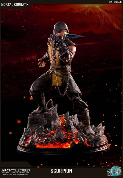 Mortal Kombat X - Scorpion Statue: Pop Culture Shock