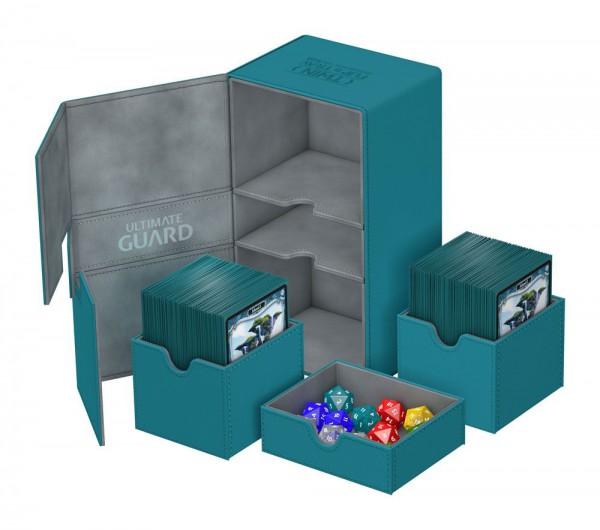 Ultimate Guard - Twin Flip 'n' Tray Deck Case 200+ / XenoSkin Petrolblau