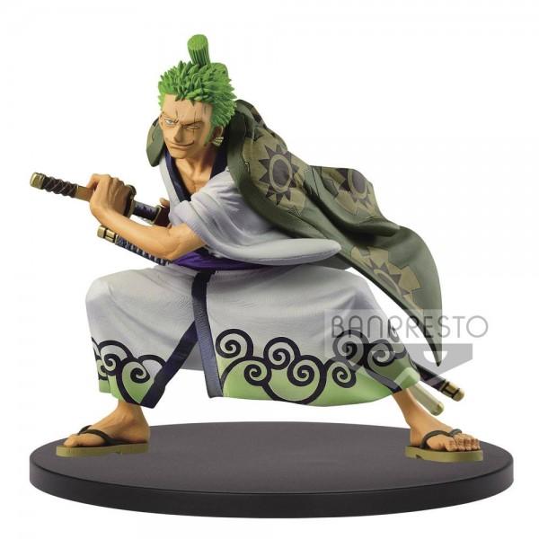 One Piece - Lorenor Zorro Figur / King Of Artist - Wanokuni Version: Banpresto