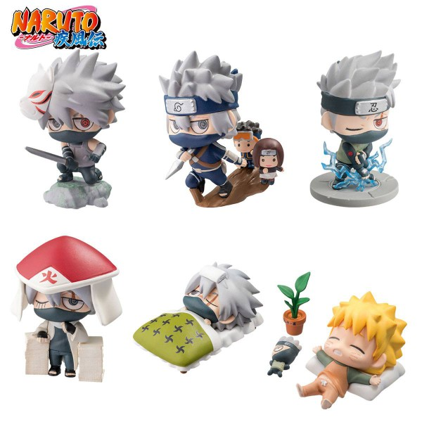 Naruto Shippuuden - Figuren-Set / Petit Chara Kakashi Special: MegaHouse