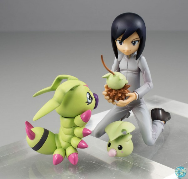 Digimon Adventure 2 MegaHouse G.E.M. Serie PVC Statue Ken & Wormmon 16cm