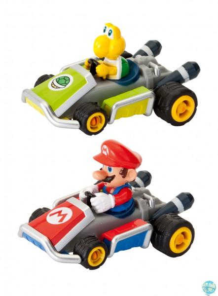 Mario Kart 7 Pull & Speed Rückzug-Fahrzeuge 2er-Pack Mario & Koopa