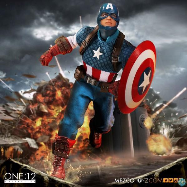 Marvel Universe - Captain America Actionfigur: Mezco