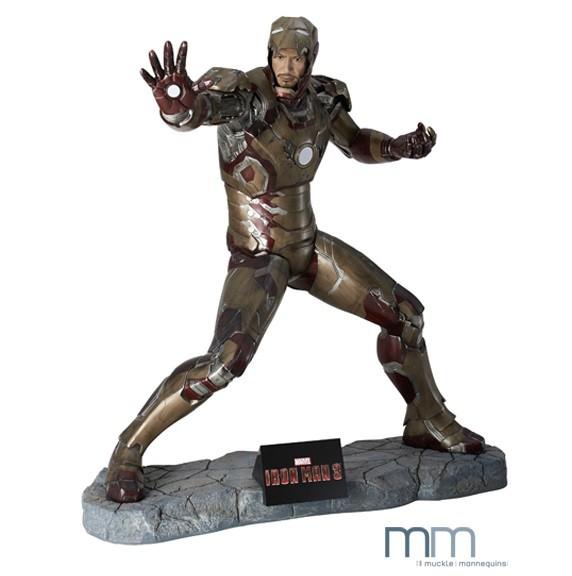 Iron Man 3 - Iron Man Life-Size Statue / Battle Version: Muckle Mannequins