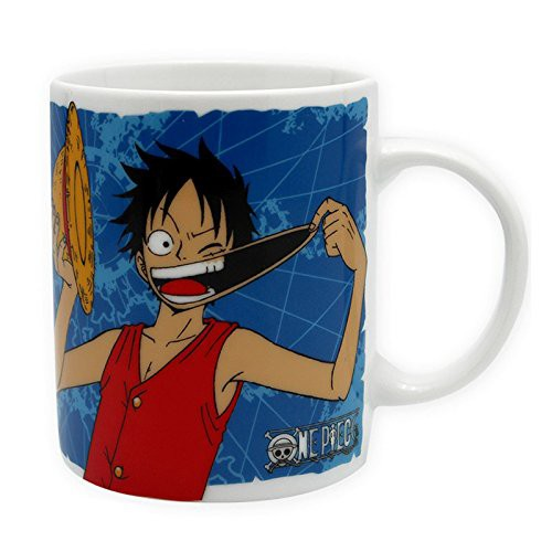 One Piece - Tasse Ruffy & Jolly Roger - 320ml: Abystyle