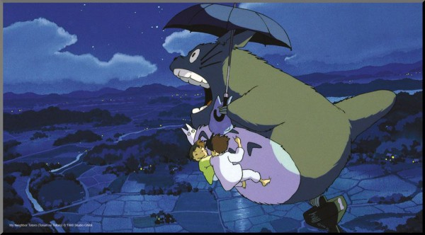 Studio Ghibli - Mein Nachbar Totoro Holzdruck Totoro & Umbrella: Semic