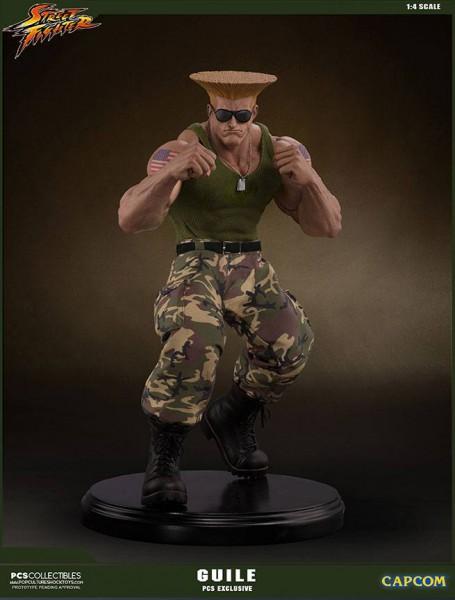 Street Fighter - Guile Statue / PCS Exclusive: Pop Culture Shock