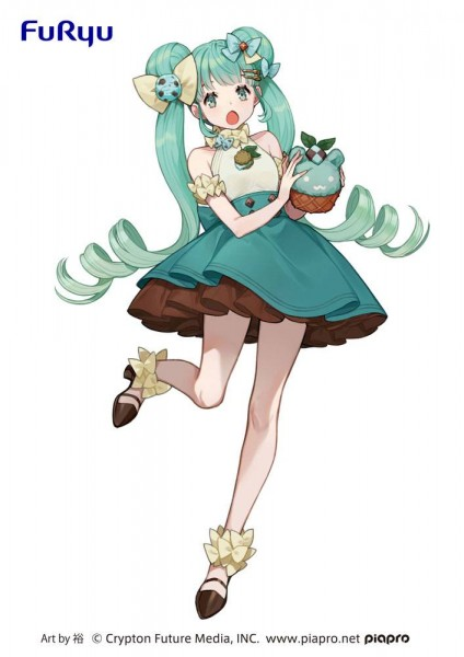 Vocaloid - Hatsune Miku Figur / SweetSweets Series - Chocolate Mint: Furyu