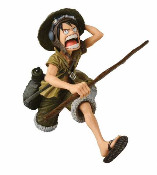 One Piece - Ruffy Figur - Scultures Big Zoukeio / Army Color: Banpresto