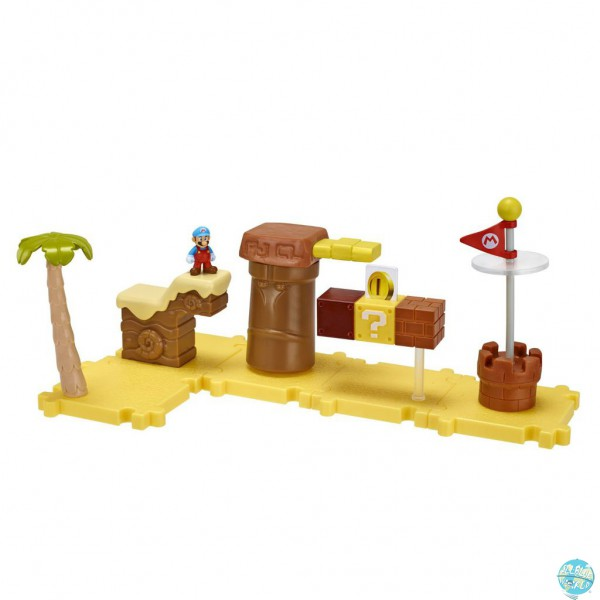 Mario Bros U Microland Welt W1-Layer Cake Desert