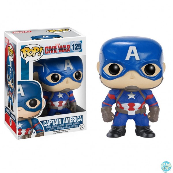 Captain America Civil War - Captain America Figur - POP!: Funko