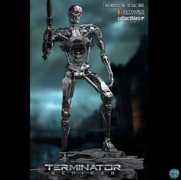 Terminator Genesis - T800 Endoskelett Statue *Limited*: Silver Fox Collectibles