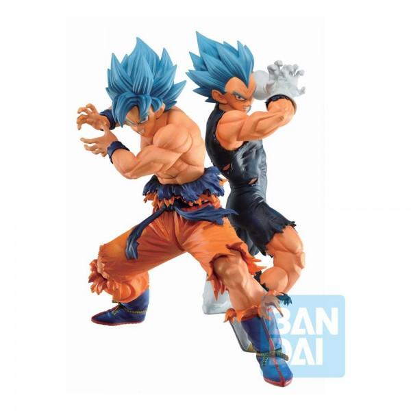 Dragon Ball Super - SSGSS Son Goku & SSGSS Vegeta Statue / VS Omnibus Super: Bandai Ichibansho