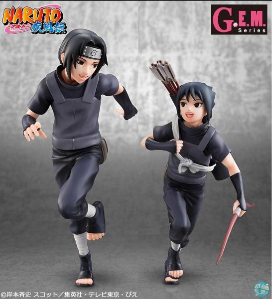 Naruto Shippuden - Itachi & Sasuke Uchiha Statue - G.E.M.: MegaHouse