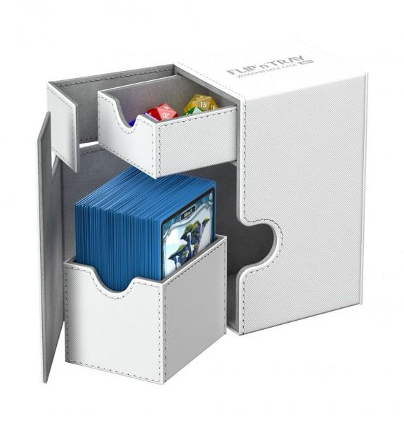 Ultimate Guard - Flip 'n' Tray Deck Case 80+ / XenoSkin Weoß