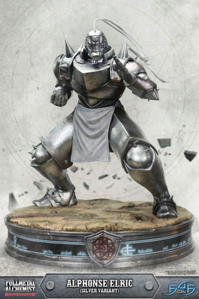 Fullmetal Alchemist Brotherhood - Alphonse Elric Statue / Silver Version: First 4 Figures-Copy