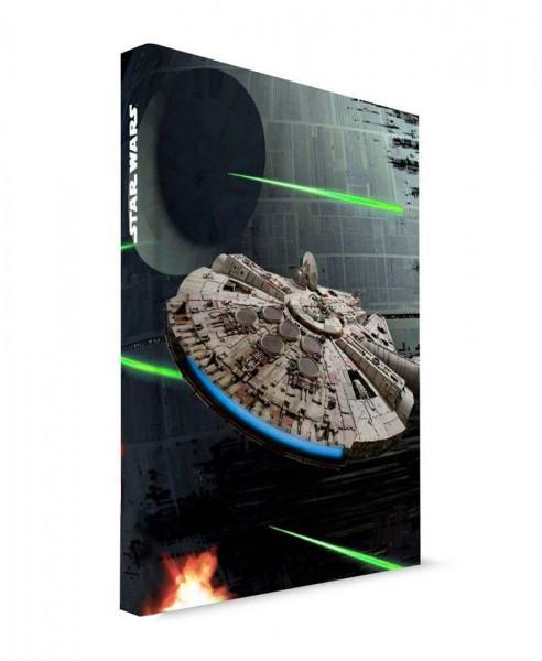 Star Wars - Millenium Falcon Notizbuch mit Leuchtfunktion: SD Toys