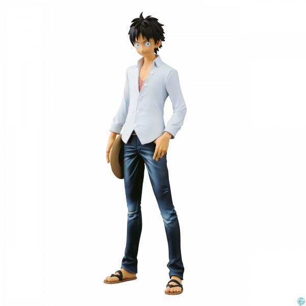 One Piece - Ruffy Figur - Jeans Freak / The Last World: Banpresto
