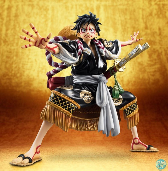 One Piece - Monkey D. Ruffy Statue - Excellent Model P.O.P / Kabuki Edition Black: MegaHouse