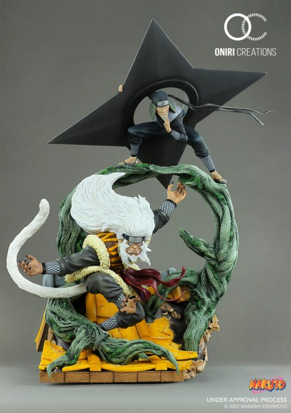 Naruto - Hiruzen Sarutobi & Enma Statue / The last Fight: Oniri Creations