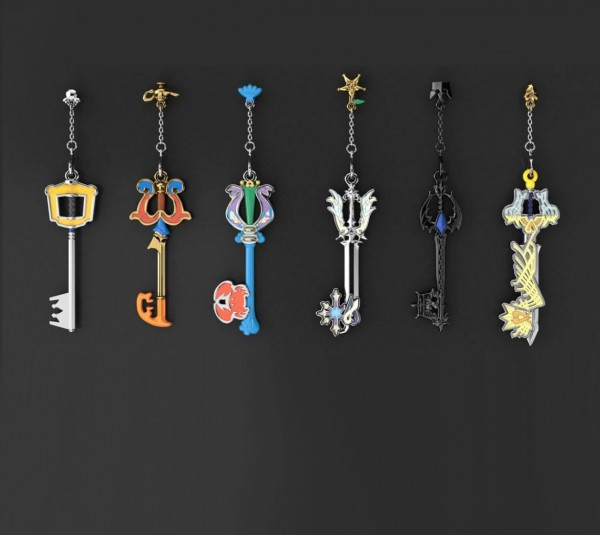Kingdom Hearts - Anhänger 6er-Pack / Key Blade Collection - Diecast: Square Enix