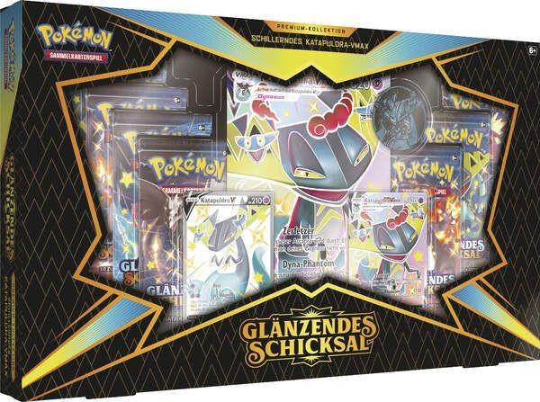 Pokémon Schwert und Schild Glänzendes Schicksal 4.5 Premium Box - Katapuldra [LEICHT BESCHÄDUGTE VER