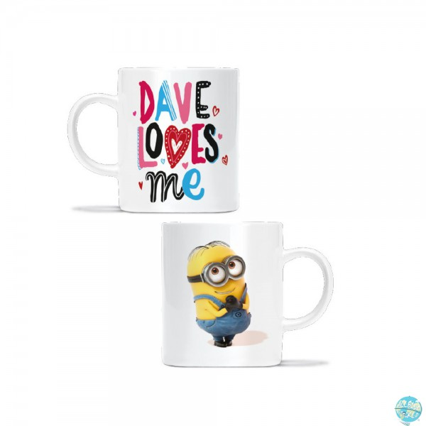 Minions Pyramide Tasse Dave Loves Me 330ml