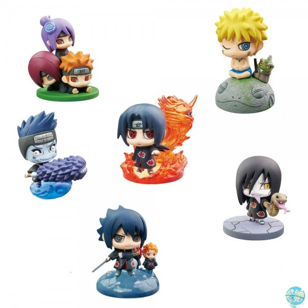 Naruto Shippuuden - 1x Minifigur m. Blindbox - Petit Chara Land / Naruto & Akatsuki: MegaHouse